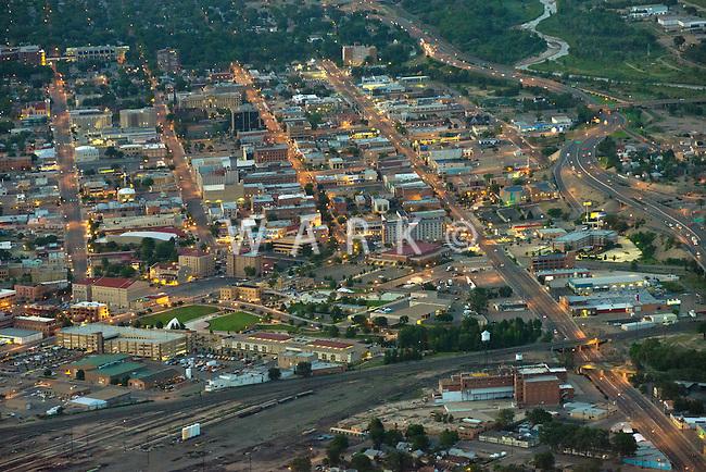 Pueblo, Colorado downtown at night.  Aug 30, 2013