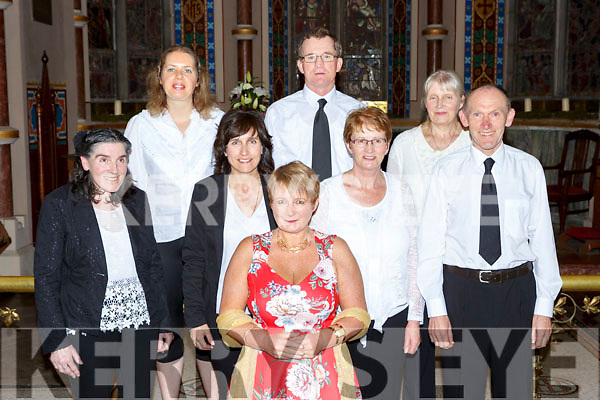 Killarney Soprano Mary Culloty O'Sullivan with her choir at her concert in St Mary's church Killarney on Friday night front row l-r: Gerdeline Murphy, Delia Casey, Angela Lynch and John McCarthy. Back row: Claire O'Brien, Thomas Cronin and Kathleen Dennehy