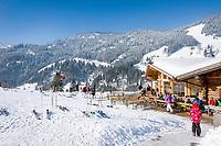 Oesterreich, Salzburger Land, Pinzgau, Dienten am Hochkoenig: Skihuette Bruendl-Stadl | Austria, Salzburger Land, Pinzgau, Dienten am Hochkoenig: ski hut Bruendl-Stadl