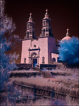 Chapel of All Saints, San Luis, Colorado (Infrared) ©2017 James D Peterson.  Situated atop La Mesa de la Piedad y de la Misericordia (the Hill of Piety and Mercy), this historic Catholic chapel overlooks a beautiful valley in southern Colorado.