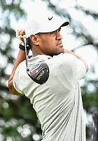26th July 2020, Blaine, MN, USA;  Tony Finau tees off on hole number two during the final round of the 3M Open golf tournament at TPC Twin Cities in Blaine, Minnesota