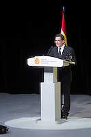 Actor Antonio Banderas delivers a speech during the ceremony to designate ambassadors of the Brand Spain. February 12, 2013. (ALTERPHOTOS/Alvaro Hernandez) /NortePhoto