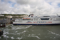 The passenger ferry Berlioz of the Sea France fleet docking at the Port of Dover, Kent on 24.5.13.