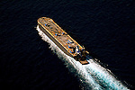 Aerial Photograph ATB Tanker in the Gulf of Mexico outside of Miami