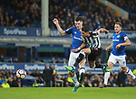 Ayoze Perez of Newcastle United shoots during the premier league match at Goodison Park Stadium, Liverpool. Picture date 23rd April 2018. Picture credit should read: Simon Bellis/Sportimage