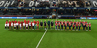 20191112 - LEUVEN , BELGIUM : Both team line ups pictured during the female soccer game between the Belgian Red Flames and Lithuania , the fourth womensoccer game for Belgium in the qualification for the European Championship round in group H for England 2021, Tuesday 12 th November 2019 at the King Power Stadion Den Dreef in Leuven , Belgium. PHOTO SPORTPIX.BE | DAVID CATRY
