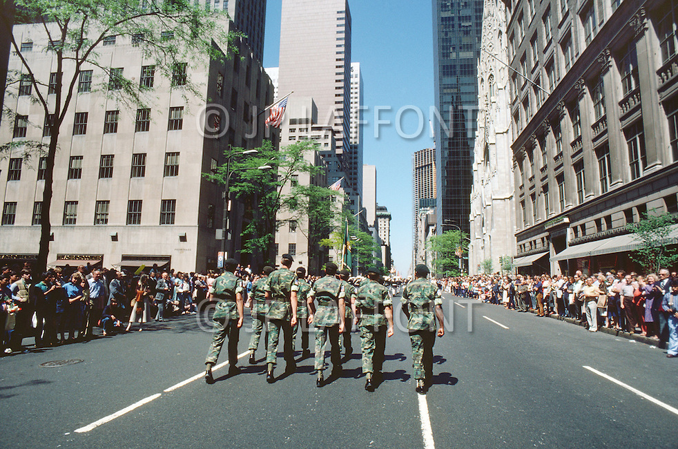 Special Force, April 1982. Ceremony for the 30th Anniversary of the Special Force, millitary parade on 5th Ave. in New York City, NY.