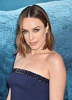 HOLLYWOOD, CA - AUGUST 06: Jessica McNamee attends the premiere of Warner Bros. Pictures and Gravity Pictures' Premiere of 'The Meg' at the TLC Chinese Theatre on August 06, 2018 in Hollywood, California.<br /> CAP/ROT/TM<br /> &copy;TM/ROT/Capital Pictures