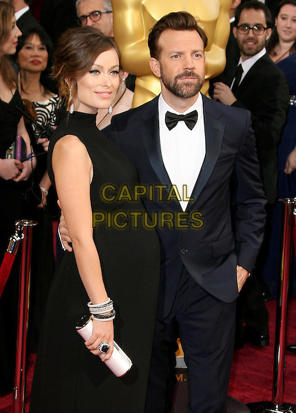02 March 2014 - Hollywood, California -  Olivia Wilde, Jason Sudeikis. 86th Annual Academy Awards held at the Dolby Theatre at Hollywood &amp; Highland Center.  <br /> CAP/ADM<br /> &copy;AdMedia/Capital Pictures