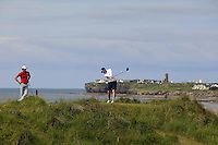 David Byrne (Athenry) on the 12th tee during Round 3 of The South of Ireland in Lahinch Golf Club on Monday 28th July 2014.<br /> Picture:  Thos Caffrey / www.golffile.ie