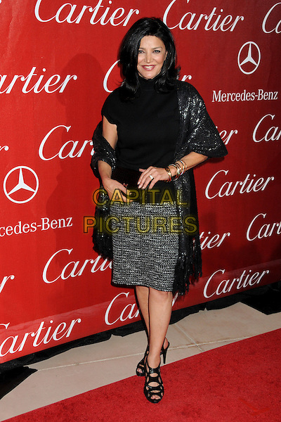 SHOHREH AGHDASHLOO.Palm Springs International Film Festival Awards Gala 2010 held at the Palm Springs Convention Center, Palm Springs, California, USA, .5th January 2010..full length black polo neck top sequined sequin wrap shawl skirt sandals bracelets clutch bag .CAP/ADM/BP.©Byron Purvis/AdMedia/Capital Pictures.
