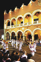 "Merida's ""Ballet Folclorico"" dance the Jarana every monday night in the Plaza Grande."