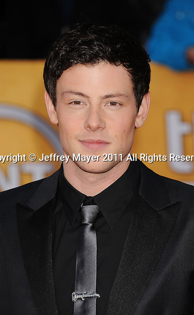LOS ANGELES, CA - January 30: Cory Monteith arrives at the 17th Annual Screen Actors Guild Awards held at The Shrine Auditorium on January 30, 2011 in Los Angeles, California.