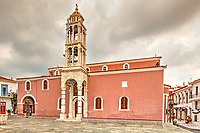 The church of the Three Bishops (Trion Ierarchon) is the Cathedral in the Chora of Skiathos island, Greece