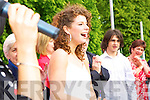 Jessie Buckley on stage at her homecoming in St Mary's Cathedral field Killarney on Friday     Copyright Kerry's Eye 2008