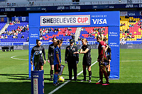 HARRISON, NJ - MARCH 08: Coin toss during a game between England and Japan at Red Bull Arena on March 08, 2020 in Harrison, New Jersey.