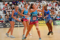 Steel Jennifer O&rsquo;Connell in action during the Netball Pre Season Tournament - Mystics v Steel at Ngā Purapura, Otaki, New Zealand on Saturday 9 February  2019. <br /> Photo by Masanori Udagawa. <br /> www.photowellington.photoshelter.com