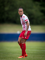 Dom Godbeer of Stevenage Ladies during the pre season friendly match between Stevenage Ladies FC and Watford Ladies at The County Ground, Letchworth Garden City, England on 16 July 2017. Photo by Andy Rowland / PRiME Media Images.