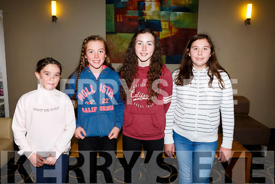 Enjoying the Churchill GAA Awards at Ballyroe Heights Hotel on Sunday were Clara O'Dowd, Laura O Reilly, Aoife Guiney and Grace Stack