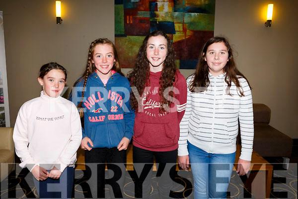 Enjoying the Churchill GAA Awards at Ballyroe Heights Hotel on Sunday were Clara O'Dowd, Laura O Reilly, Aoife Guiney and Grace Stack