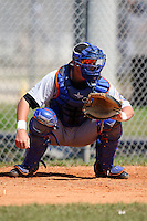 March 19, 2010:  Catcher John Taylor Freeman of the New York Mets organization during Spring Training at the Roger Dean Stadium Complex in Jupiter, FL.  Photo By Mike Janes/Four Seam Images