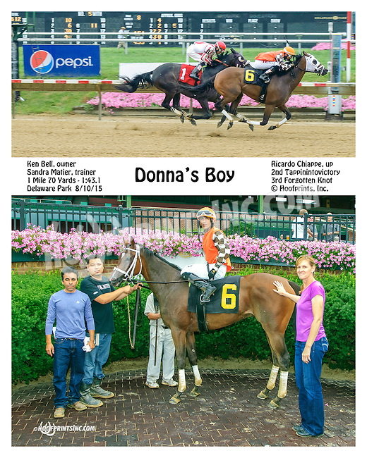 Donna's Boy winning at Delaware Park on 8/10/15