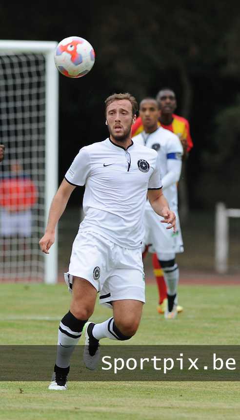 20150724 - DOUAI, FRANCE :  RWS Bruxelles' Seppe Brulmans pictured during a friendly match between French second division team Racing Club de Lens and Belgian second division team Royal White Star Bruxelles, during the preparation for the 2015-2016 season, Friday 24th July 2015 in Douai. PHOTO DAVID CATRY