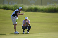 Lucas Bjerregaard (DEN) looks over his long eagle putt on 14 during the round 1 of the AT&T Byron Nelson, Trinity Forest Golf Club, Dallas, Texas, USA. 5/9/2019.<br /> Picture: Golffile | Ken Murray<br /> <br /> <br /> All photo usage must carry mandatory copyright credit (© Golffile | Ken Murray)
