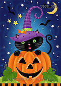 Janet, CUTE ANIMALS, halloween, paintings+++++,USJS395,#ac#