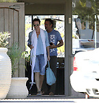 October 14th 2012 <br /> <br /> Sean Penn eating lunch at Savory restaurant in Malibu with female friend &amp; actress Emma Thompson. Sean was smoking a cigarette sporting a pony tail and beard mustache. Lunch Date <br /> <br /> ......AbilityFilms@yahoo.com<br /> 805 427 3519.<br /> www.AbilityFilms.com