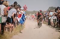 on pavé sector #2<br /> <br /> Stage 9: Arras Citadelle > Roubaix (154km)<br /> <br /> 105th Tour de France 2018<br /> ©kramon