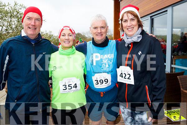 Santa Fun run Tralee Wetlands. L-r Padraig O'Sullivan, Rosie Ui Shuilleabhan, Liam O'Sullivan and Laura Logue.