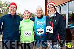 Santa Fun run Tralee Wetlands. L-r Padraig O'Sullivan, Rosie Ui Shuilleabhan, Liam O'Sullivan and Laura Logue.