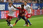 15.08.2018,  GER; FBL, Testspiel, Hamburger SV vs FC Bayern Muenchen ,DFL REGULATIONS PROHIBIT ANY USE OF PHOTOGRAPHS AS IMAGE SEQUENCES AND/OR QUASI-VIDEO, im Bild Kingsley Coman (Bayern #29) versucht sich gegen Gotoku Sakai (Hamburg #24) und Fiete Arp (Hamburg #15) durchzusetzen Foto © nordphoto / Witke *** Local Caption ***