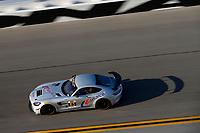 IMSA Continental Tire SportsCar Challenge<br /> The Roar Before the Rolex 24<br /> Daytona International Speedway<br /> Daytona Beach, FL USA<br /> Saturday 6 January 2018<br /> 63, Mercedes-AMG, Mercedes-AMG GT4, GS, David Askew, Aaron Povoledo<br /> World Copyright: Jake Galstad<br /> LAT Images