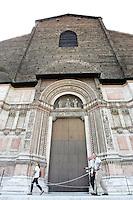 Il portone principale della Basilica di San Petronio a Bologna.<br /> A view of the main doorway of San Petronio's Basilica in Bologna.<br /> UPDATE IMAGES PRESS/Riccardo De Luca