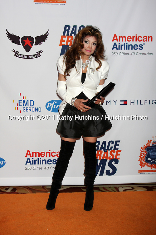 LOS ANGELES - APR 29:  LaToya Jackson arriving at the 18th Race to Erase MS Event at Century Plaza Hotel on April 29, 2011 in Century City, CA..
