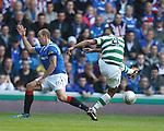 Baddur Ek Kaddouri shoots at Allan McGregor who fumbles his shot for Celtic's second goal