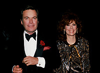 ***FILE PHOTO*** ***Robert Wagner Deemed A Person Of Interest In The Death Of Natalie Wood***Jill St. John and Robert Wagner on February 1985 in New York City.<br />  CAP/MPI/WAL<br /> &copy;WAL/MPI/Capital Pictures