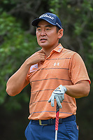 Andrew Yun (USA) looks over his tee shot on 14 during Round 3 of the Valero Texas Open, AT&T Oaks Course, TPC San Antonio, San Antonio, Texas, USA. 4/21/2018.<br /> Picture: Golffile | Ken Murray<br /> <br /> <br /> All photo usage must carry mandatory copyright credit (© Golffile | Ken Murray)