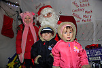 Tiana Keegan And Kayla Murray in dunleer for the arrival of Santa<br /> Picture: Fran Caffrey www.newsfile.ie