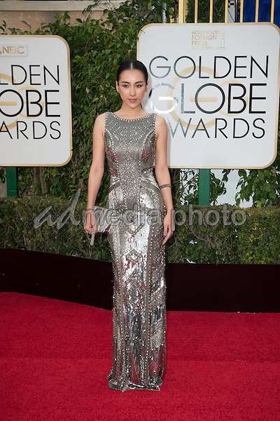 Actress Jane Wu attends the 73rd Annual Golden Globe Awards at the Beverly Hilton in Beverly Hills, CA on Sunday, January 10, 2016. Photo Credit: HFPA/AdMedia