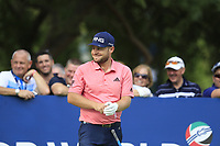 Tyrrell Hatton (ENG) on the 16th tee during the 1st round of the DP World Tour Championship, Jumeirah Golf Estates, Dubai, United Arab Emirates. 21/11/2019<br /> Picture: Golffile | Fran Caffrey<br /> <br /> <br /> All photo usage must carry mandatory copyright credit (© Golffile | Fran Caffrey)