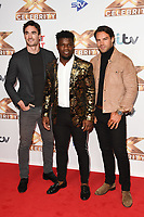 Thom Evans, Levi Davis and Ben Foden (Try Star)<br /> at the photocall of X Factor Celebrity, London<br /> <br /> ©Ash Knotek  D3524 09/10/2019