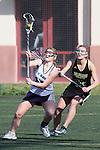 Santa Barbara, CA 02/18/12 - Louise Marquino (UC Davis #13) and Kelly Vaggalis (Colorado State #20) in action during the UC Davis - Colorado State game at the 2012 Santa Barbara Shootout.  Colorado State defeated UC Davis 10-9.