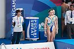 (Lto R) <br />  Masayo Imura, <br /> € Yukiko Inui &  Megumu Yoshida (JPN), <br /> AUGUST 28, 2018 - Artistic Swimming : <br /> Women's Duet Technical Routine <br /> at Gelora Bung Karno Aquatic Center <br /> during the 2018 Jakarta Palembang Asian Games <br /> in Jakarta, Indonesia. <br /> (Photo by Naoki Morita/AFLO SPORT)