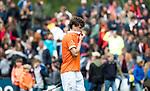 BLOEMENDAAL   - Hockey -  3e en beslissende  wedstrijd halve finale Play Offs heren. Bloemendaal-Amsterdam (0-3).  Teleurstelling bij Florian Fuchs (Bldaal)  na het eindsignaal.  Amsterdam plaats zich voor de finale.  COPYRIGHT KOEN SUYK
