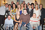 Engagement: Having a lovely evening at their engagement party in the Abbey Gate Hotel, Tralee, on Friday were David Cronin, Ballyrickard Court and Erica Healy, The Kerries (seated centre), along with family and  friends..