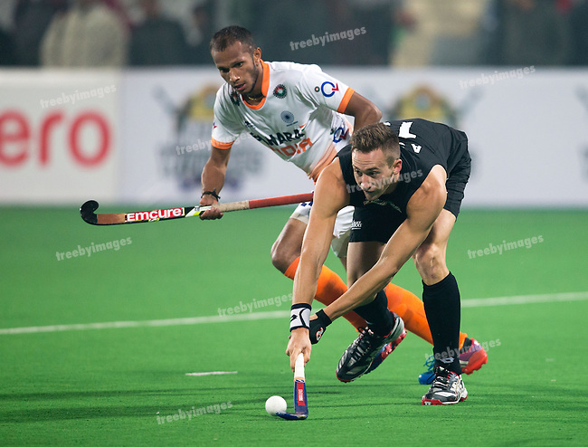 Mens Hockey World league Final Delhi 2014<br /> Day 2 India v New Zealand11-01-2014<br /> <br /> <br /> Photo: Grant Treeby / treebyimages