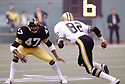 Pittsburgh Steelers Mel Blount (47) during a game from his 1978 season with the Pittsburgh Steelers. Mel Blount played 14 seasons, all for the Pittsburgh Steelers, was a 5-time Pro Bowler and was inducted to the Pro Football Hall of Fame in 1989.(SportPics)